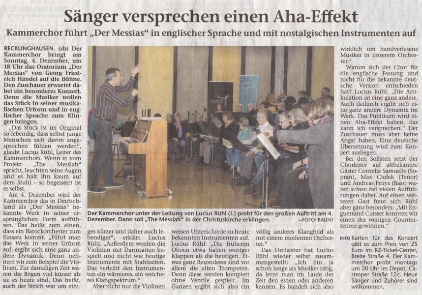 Recklinghäuser Zeitung, 10.11.2016